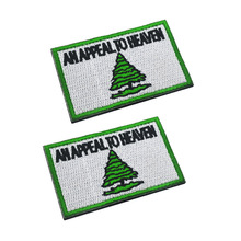 AN APPEAL TO HEAVEN Patch Embroidery Tree Badge Hook Tactical Patches Military Brassard Combat Armband embroidery badge bounty hunter boba fett bantha skull new embroideried badges military tactical armband patch patches for jacket