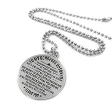 To My Husband-Engraving Pendant Necklace As Birthday Holiday Anniversary Gifts From Wife Fashion Jewelry Men'S Accessories(China)