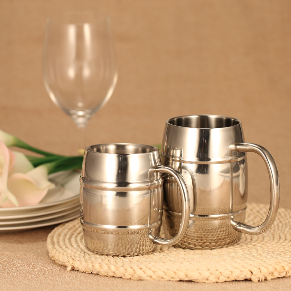First Wall Stainless Steel Coffee Cup Ml Handle Insulated Beermug Beverage Picnic Cup Drinkware Wine Gift Tea Mugs From Home On Wall Stainless Steel Coffee Cup Ml Handle furniture Double Handle Coffee Cups