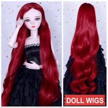 Girl Doll Wig Long Hair for Dolls Colourful Straight Curly Bjd 1/3 Accessories BJD Girls Toys