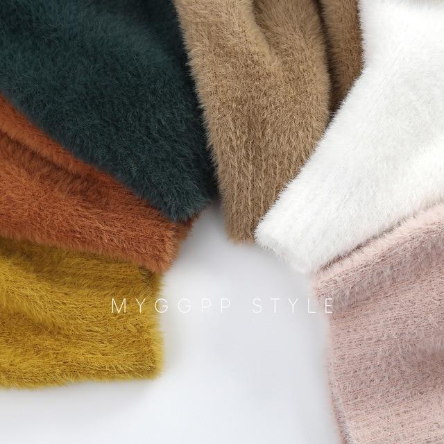 Girls' Sweaters Winter Wear New Style Imitation Mink Jacket Sweater 1-3 Year Old Baby Warm Coat Kids Sweaters 2