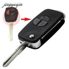 Jingyuqin модифицированной флип складной удаленный ключевой случае В виде ракушки подходит для Suzuki SX4 Swift 2 кнопки + Кнопка Pad