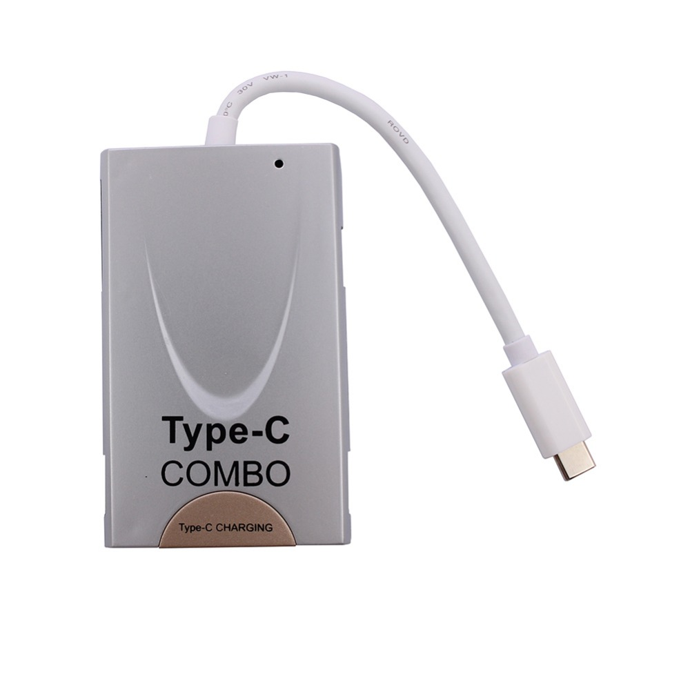 3.1 Type C Combo USB Charger Data/sync/ Charger /Hdtv/computer for Samsung Android Cellphone for Iphone and Tablet