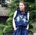 Новая версия продукта в осенью 2016 года оригинальный дизайн denim свободные большие ярдов женщин жилет
