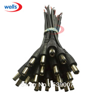 100Pcs Male Plug DC 5.5x2.1 Cable Wire Connector For 5050 3528 LED Strip Light