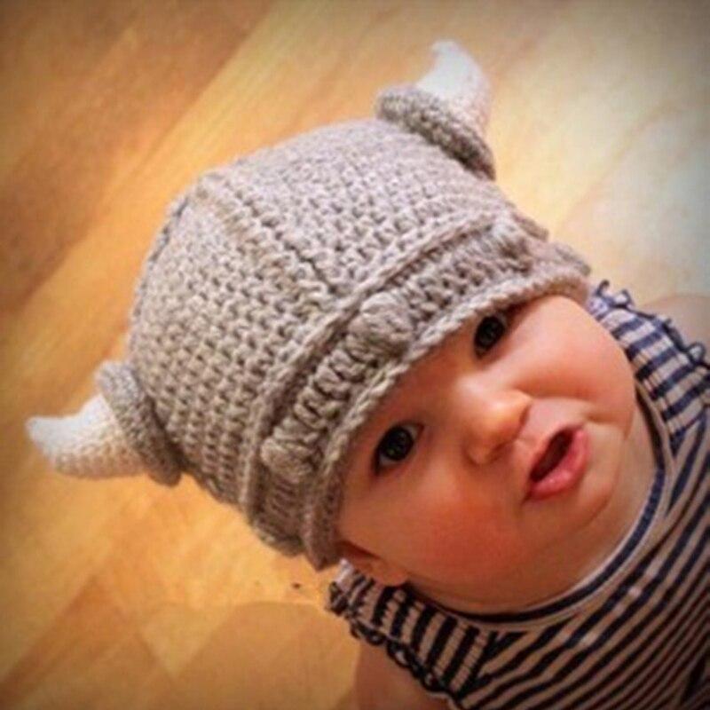 100 Quality F3ea6 09ffb Hot Sale Newborn Baby Kids Viking Hat