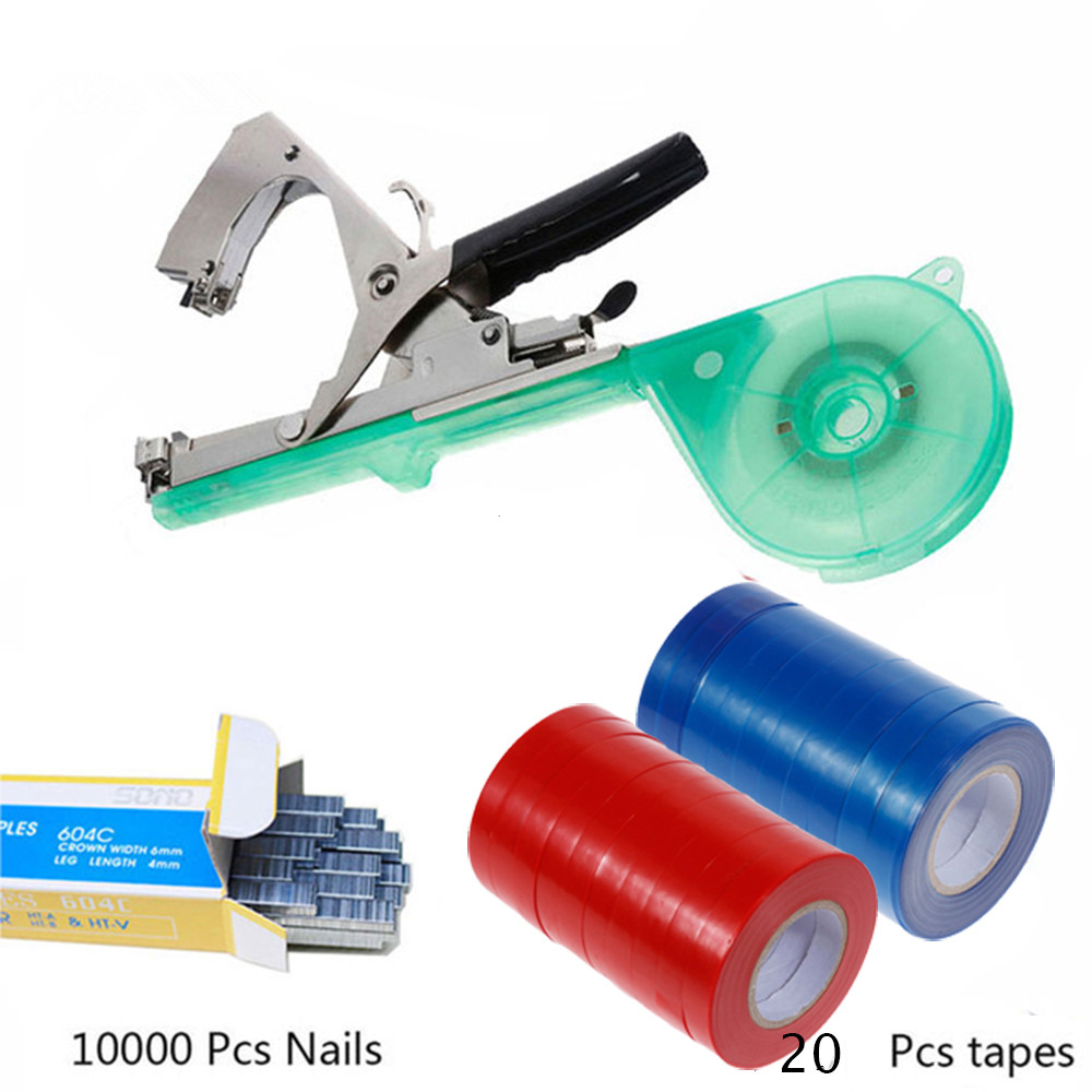 40 Rolls Plant Tying Machine Tapener Vegetable Binding Tapes Red+Blue