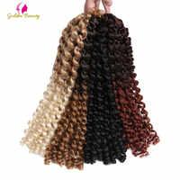 Goldene Schönheit 14 zoll Jumpy Zauberstab Curl Twist Häkeln Zöpfe Jamaican Bounce African Synthetische Flechten Haar 20 stränge/pack