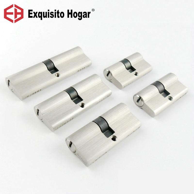 Double Open Lock Door Window  Security  55 60 70 80 90mm Cylinder  Living Room  Lock Handle Customized  Brass Key Copper