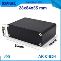 1 Piece Free Shipping Black Aluminum Housing Case Small Juncion Box For Electronic 28 84 55mm