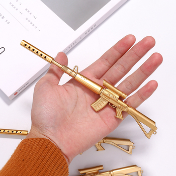 2020new 1pcs Golden Machine Gun Ballpoint Pens Student Ball Point Pen School Office Supplies Learning Stationery Wholesale 1