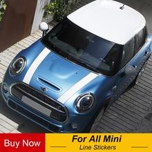 Автомобильный капот двигателя ралли линии наклейки и наклейки автомобиль-Стайлинг для Mini Cooper S JCW One F54 F55 F56 F60 R55 R56 R60 R61 R50 R52 R53