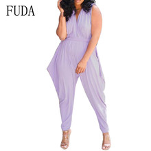 HUTI Elegant Cone Pants Jumpsuits Summer Hollow Out Sleeveless Bodysuits Casual High Street Go Playsuits Macacao Feminino