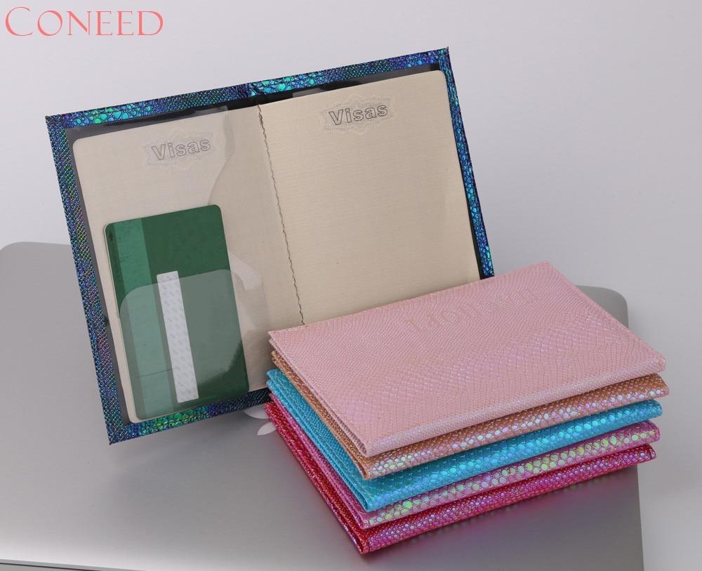CONEED 6 Renk parlak kertenkele tahıl pasaport kapağı Mavi - Cüzdanlar - Fotoğraf 2