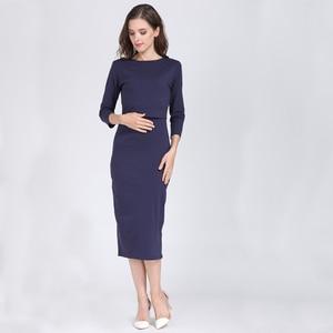 Image 3 - 2020 New Spring Striped Maternity Breastfeeding Dresses Pregnancy clothes Women Pregnant Nursing Lactation Dress Drop Shipping