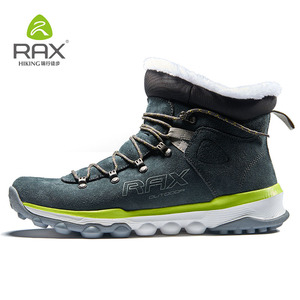 Image 2 - RAX hommes bottes de randonnée en cuir véritable chaussures hiver randonnée bottes pour hommes en plein air chaud randonnée chaussures baskets chaussures de marche homme