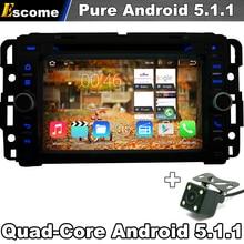 Pure Android 5.1 Car DVD Player GPS Navigation For GMC Yukon Savana Sierra Tahoe Acadia 2007-2012 with Radio 3G Wifi Camera