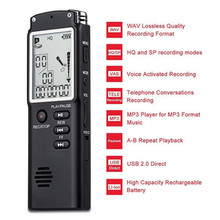 New Mini Professional Voice Recording Device Time Display Large Screen Digital Voice Audio Recorder Dictaphone MP3 Player