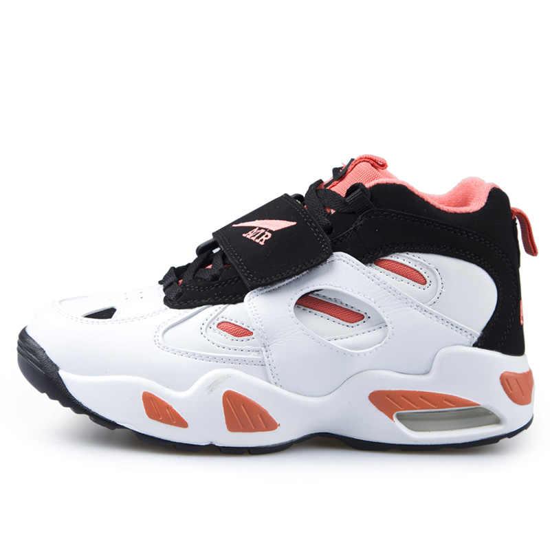 Erkekler ve kadınlar açık spor ayakkabı hava amortisör tampon basketbol ayakkabıları kamp giyim süt inek nefes sneakers