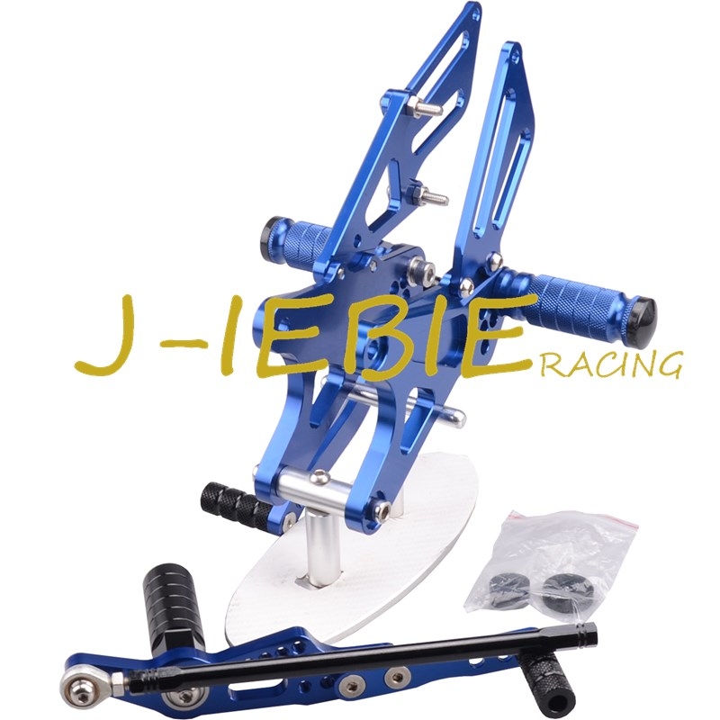 CNC Racing Rearset Adjustable Rear Sets Foot pegs Fit For Yamaha YZF R1 2009 2010 2011 2012 2013 2014 BLUE motorcycle fz1 fz8 adjustable rearset rear set foot rests foot pegs for yamaha fz1 2006 2014 and fz8 2010 2011 2012 2013 new