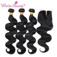 Wonder Beauty Hair Brazilian Body Wave Non Remy Human Hair Weave Bundle Deals 3 Bundles With
