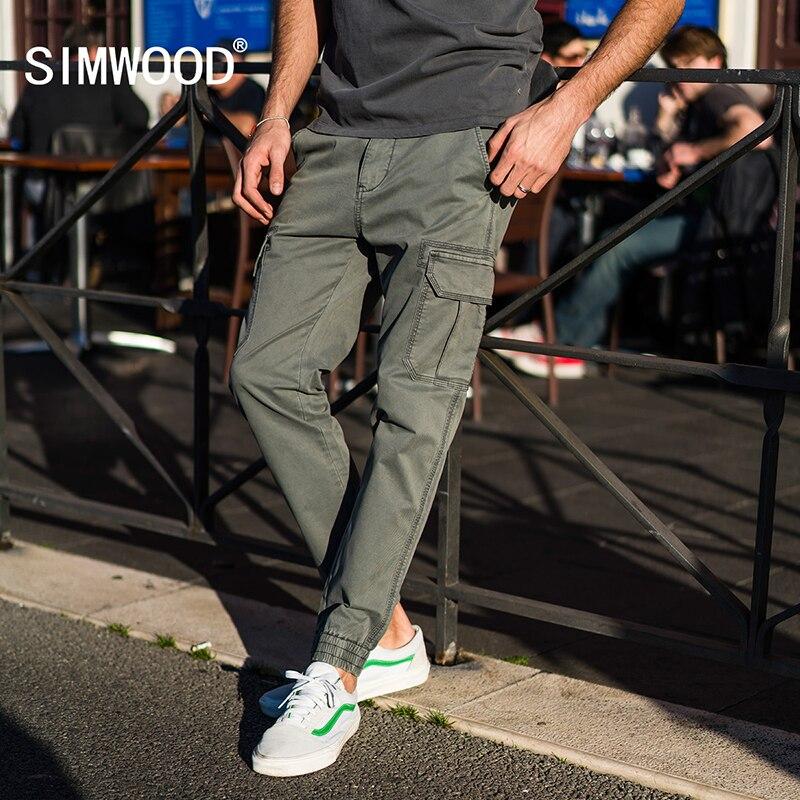 Simwood 2018 новые весенние Брюки карго Для мужчин карман пят уличная Тактический Мотобрюки Военная Униформа хип-хоп плюс Размеры 180060
