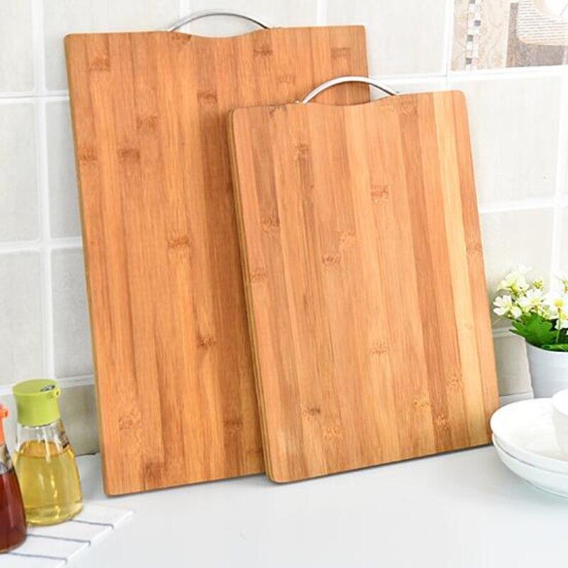 Neue starke antibakterielle hacken rechteckigen natürlichen bambus bord eingestuft küche schneiden bord für brot obst gemüse