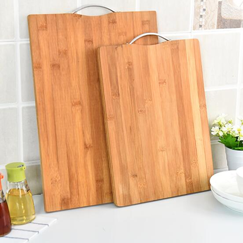 Thick antibacterial chopping rectangular natural bamboo board classified kitchen cutting for fruits and vegetables