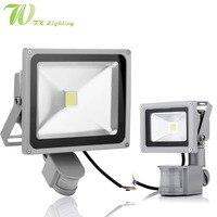 LED Induction Flood Light 10W 20W 30W 50W Motion Sensor Spotlight 85 265V Outdoor Lighting Aerospace
