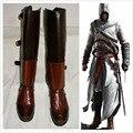Anime Assassins Creed 1 Altair Cosplay Botas Zapatos de Halloween Cosplay Botas de Cuero de La Pu Personalizado Nuevo