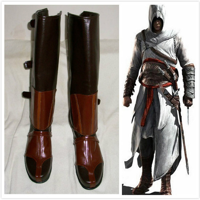 Anime Assassins Creed 1 Altair Cosplay Costume Boots Shoes
