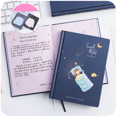 MoeTron Cute Hardcover Notebook Diary Color Paper Notebook Composition Book With Blank Pages 365 day thick hardcover personal diary