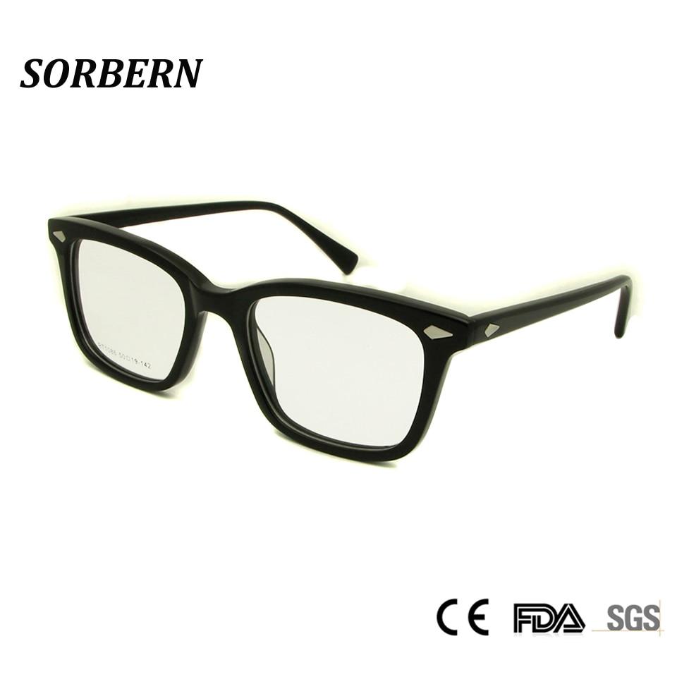 7b9b7c0746 Detail Feedback Questions about SORBERN High Quality Graduate Spectacle  Frame Square Nerd Glasses Male Myopia Rivet Eyeglasses Vintage Prescription  Eyewear ...