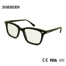 ФОТО sorbern high grade spectacle frame square nerd glasses male myopia rivet eyeglasses vintage prescription eyewear