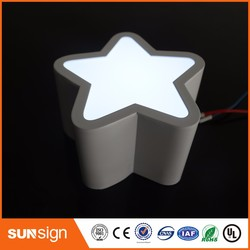 Señal de iluminación led de acero inoxidable para exteriores, salida de fábrica