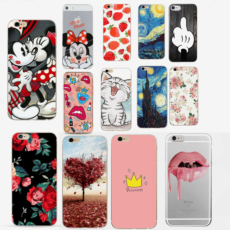 For Fundas iPhone 7 Case Cover Apple iPhone X 5 5S SE 6 6S 7 8 Plus Cute Silicone Phone Back Case For iphone 6s capas(China)