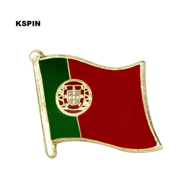 Portugal Flag Lapel Pin Badges For Clothes In Patches Rozety Papierowe Icon Backpack by Akolion