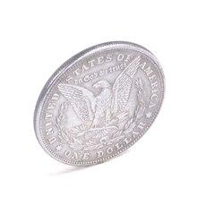 Magnetic Copper Morgan Dollar Coins Magic tricks Funny Close Up Magic Comedy Copper Magic Props For Profess Magicians
