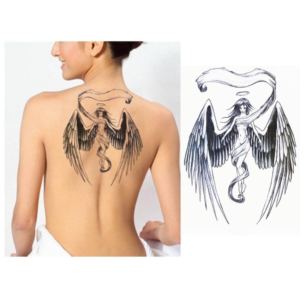 Angel Wings Tattoo Fashion Angel Tattoo Stickers New Water Transfer Waterproof Temporary Tattoo Sticker Body Art New Product
