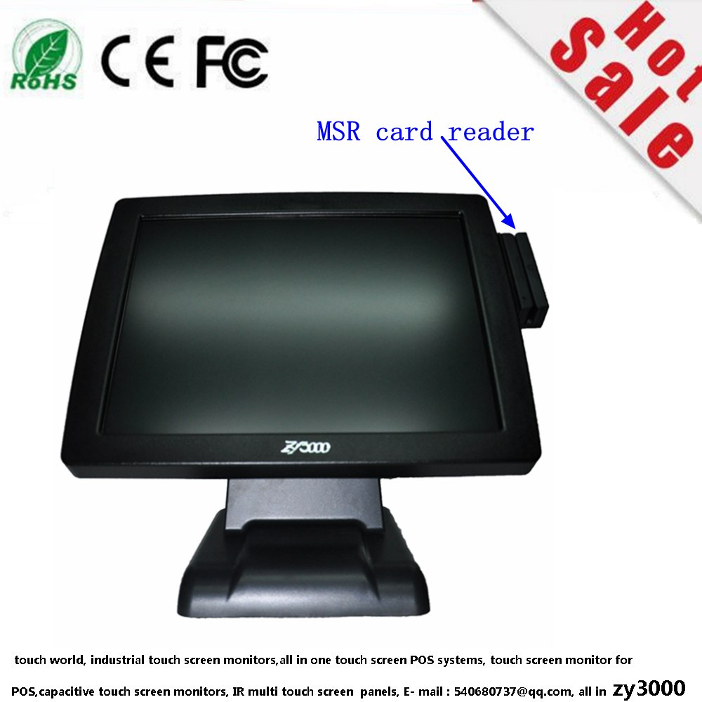 new stock 1037U 4G Msata 64G SSD 15 inch resistive touch Screen all in one  cash register restaurant