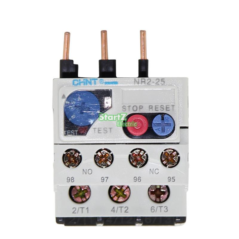 CHNT NR2-25/Z 0.4A-0.63A Thermal overload relay  CJX2 dhl ems 5 sests new schneider thermal overload relay lrd32c 23 32