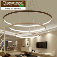 Qiseyuncai Post Modern Aluminium Alloy Multiple Ring Acrylic Material Personality Light Dome Light Brief Originality A