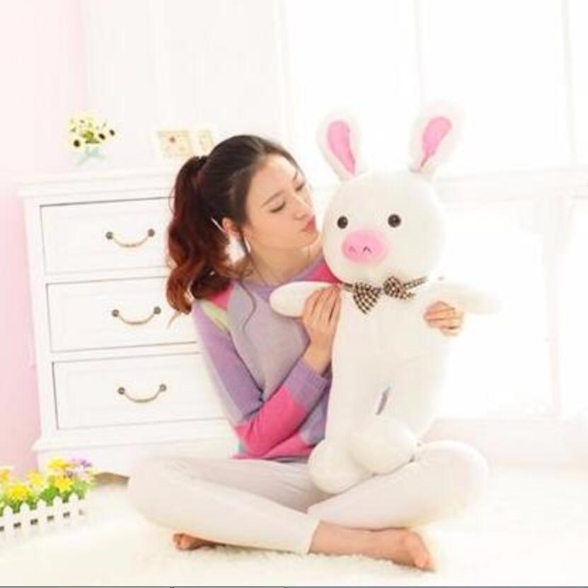 Free shipping 1pcs 50cm special cute soft anime pig rabbit cuddly sleep plush animal doll hold pillow stuffed toy birthday gift 50cm cute plush toy kawaii plush rabbit baby toy baby pillow rabbit doll soft children sleeping doll best children birthday gift
