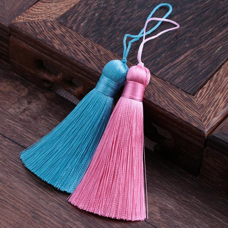 10pcs/lot China Delicate ice silk yarn Tassel Handmade Diy Jewelry Finding Accessories Fashion Tassels Embellishments Components