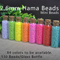 EVA 1 Bottle 2.6mm Mini Hama/Fuse/Perler Beads 530 Beads/Bottle 84 Colors Available High Grade Jigsaw Puzzles Hand Made