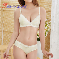 GRMANE Bra Brief Sets One Piece Style Underwear Female Gather Girl Bra Lovely AB Cup Sweet