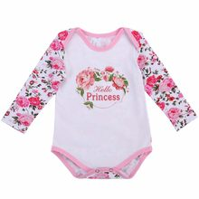 1st Birthday Newborn Clothes 2017 Autumn Infant Costume,Tiny Cottons Twins Jumpsuit Baby Bodysuit Long Sleeve Body Bebe Menina(China)