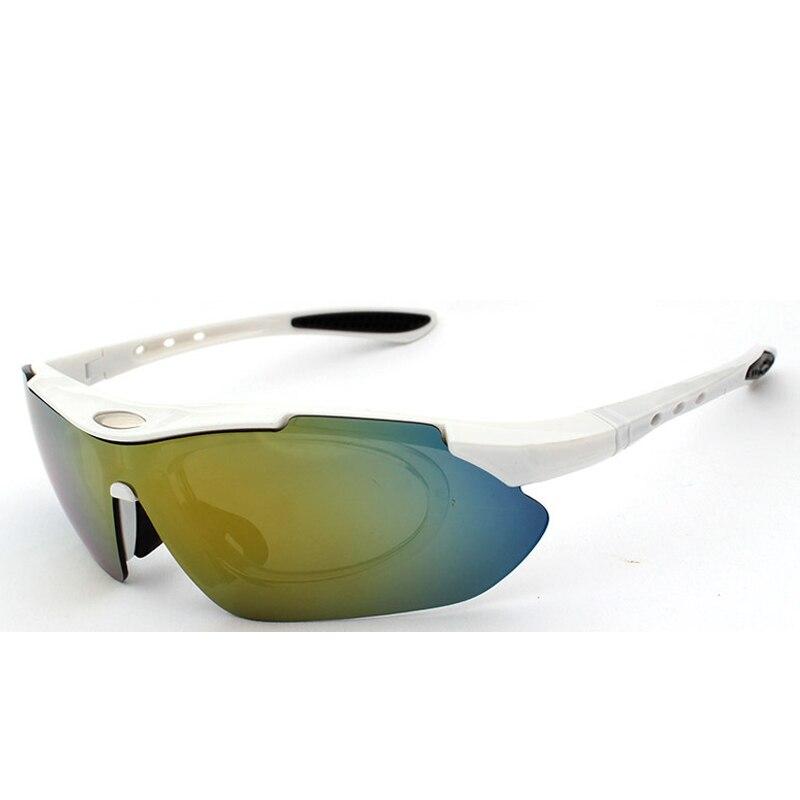 Prix pour Polarisées Vélo lunettes de Soleil Sport En Plein Air Coupe-Vent lunettes de Vélo De Montagne Moto Soleil verre accessoires 1 cadre 5 lentille/lot