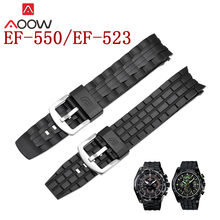 High Quality PU Watchband for Casio Edifice EF-550 / EF-523 Men Sports Waterproof Replacement Bracelet Band Strap Accessories(China)