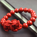 Lucky brave BIXIU Taiwan cinnabar beads Bracelets for women beads 10mm boutique cinnabar stone bracelet men jewelry new 0677